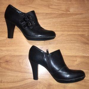 {Sole Sensibility} Myra Black Ankle Booties